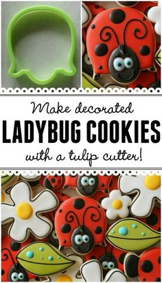 Make adorable decorated ladybug cookies with a tulip cutter!