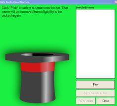 The Hat: Random Name Generator
