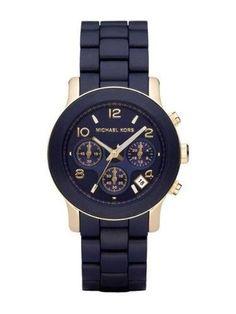 82a49640145 Relógio Feminino MK emborrachado azul marinho - R 98.00 Relogio Feminino  Mk