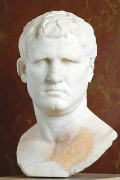Marcus Vipsanius Agrippa (c. BC – 12 BC) He was a close friend, son-in-law, and lieutenant to Augustus. Responsible for important military victories, most notably at the Battle of Actium against the forces of Mark Antony and Cleopatra. As a result o Ancient Rome, Ancient Art, Ancient History, Roman Sculpture, Sculpture Art, Sculpture Ideas, Battle Of Actium, Fall Of Constantinople, Roman Empire
