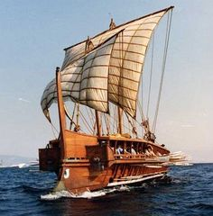 Ancient Roman Ship. Easy to imagine these coming into the Seiont dock and bringing in all sorts of supplies from far afield.