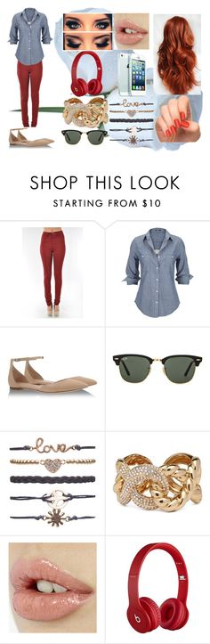"""""""Look#60"""" by allicefaleta ❤ liked on Polyvore featuring Silver Jeans Co., Gianvito Rossi, Ray-Ban, Wet Seal, Giuseppe Zanotti, INDIE HAIR and Beats by Dr. Dre"""