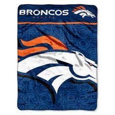 NFL Denver Broncos Micro Raschel Throw Blanket, 46 x 60-Inch