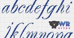 Blog de ponto cruz, com dicas, vídeos aulas, passo a passo, aulas para iniciantes, gráficos e muito mais. Confira! Cross Stitching, Cross Stitch Embroidery, Cross Stitch Designs, Stitch Patterns, Broderie Bargello, Plastic Canvas Letters, Alphabet Charts, Cross Stitch Letters, Monogram Alphabet