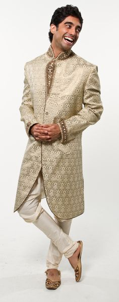 Caramel Machiatto Sherwani - I like the cut and color of this a lot. Not your typical style