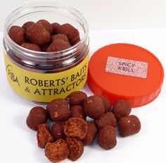 RBA Spicy Krill Flavour Dumbbell Bottom Bait Hookers Carp Fishing Boilies & Glug #RBA