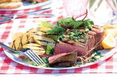 Lehký bramborový salát   Apetitonline.cz Steak, Beef, Food, Meat, Essen, Steaks, Meals, Yemek, Eten