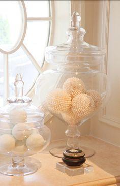 Apothecary jar styling ~ easy & elegant!