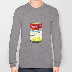 Cream of Horn Long Sleeve T-shirt by That's So Unicorny   Society6