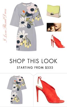 """I Love Floral Dress"" by gloria-3789 ❤ liked on Polyvore featuring Marni, Aquazzura and Proenza Schouler"