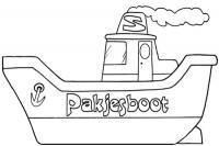 Stoomboot bouwplaat