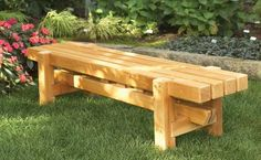 Outdoor Wood Garden Bench Plans http://www.woodesigner.net provides great guidance and ideas to working with wood