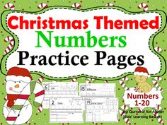 Number Practice Pages Christmas Themed (1- 20):This is a set of practice pages in which numbers are reviewed from 1-20.In this pack student will:-----Recognize and read the number in the box-----Trace the number -----Trace the number word-----Count and color the Winter images-----Coloring Ten frames according to the Number worksheet-----Drawing objects in the blank box to correspond with the number If you want any change kindly let me know.Write in Ask question tab.