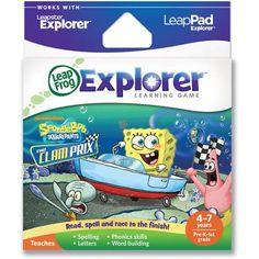 LeapFrog Explorer & LeapPad Learning Game: SpongeBob SquarePants: The Clam Prix - Walmart.com