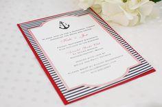 Nautical Bridal Shower Invitation // Professionally Printed via Etsy