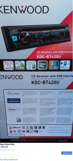 Vehicle Electronics And GPS: New Kenwood Bluetooth Car Stereo Kdc-Bt420u Cd Receiver Usb Color Change 1 Din BUY IT NOW ONLY: $86.98 #priceabateVehicleElectronicsAndGPS OR #priceabate