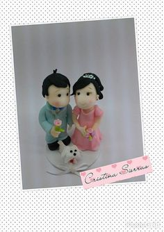 Handmade Custom  Cake topper  Bride Groom by RUSTIKOcakeDecoratio, €55.00