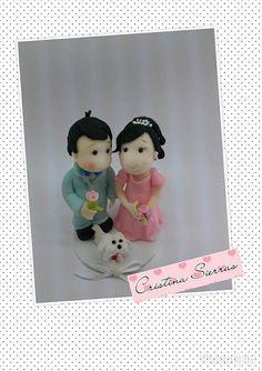 Handmade Custom  Cake topper  Bride Groom by RUSTIKOcakeDecoratio, €55.00
