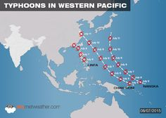 Latest update on Typhoons in western Pacific and their impact on Monsoon in India - See more at: http://www.skymetweather.com/content/weather-news-and-analysis/intense-typhoons-to-keep-southwest-monsoon-subdued/#sthash.WgnUpI2e.dpuf