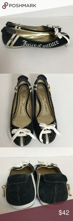 """Juicy Couture Mara Flats Juicy Couture Mara Flats. Lace up now detail on vamp. """"Juicy Couture"""" embroidered on the side. """"J"""" charm dangles near the heel. Leather lining. Juicy Couture Shoes Flats & Loafers"""