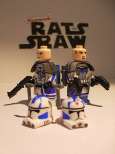 Lego Star Wars minifigures - Clone Custom ARC Troopers Fives and Echo