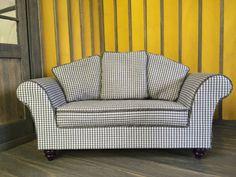 Dollhouse Miniature Furniture - Tutorials | 1 inch minis: FIRST SOFA DONE!