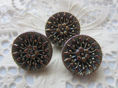 Vintage Buttons   beautiful lot of 3 matching by pillowtalkswf, $8.95