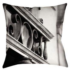 Urban Detail Scroll Indoor/Outdoor Throw Pillow