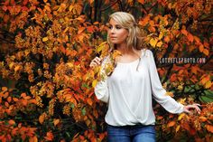 From my recent shoot.  I was mourning the loss of summer and now I'm  falling in love with Autumn since doing a few shoots. :)        Fall, Autumn, Beautiful, Girl, Woman, Blonde, Portrait, Orange, Leaves, portrait photography, Milwaukee photographer, LotusFly Photography