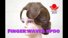 フィンガーウェーブでヘアアレンジしよう ZENヘアセット92 Finger waves tutorial