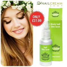 Summer Skin Care MUST-HAVE -> Miracle Snail Facial Serum! Only £39.99!!! http://www.snailcreamshop.co.uk/cougar-beauty-snail-products/cougar-beauty-miracle-snail-slime-facial-serum-50ml.html ‪#‎musthave‬ ‪#‎skincare‬ #beauty