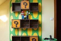 Mario bros book shelf