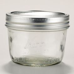 One of my favorite discoveries at WorldMarket.com: Kerr Half Pint Wide Mouth Jar.  Get these instead of plastic items.