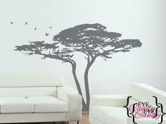 Vinyl Wall Art -acacia tree