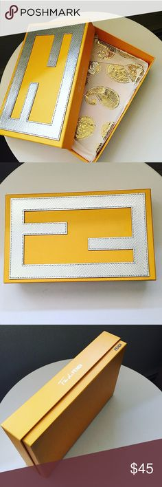 FENDING BOX (perfume box) FENDI PERFUME BOX / can store a lot / cute and chic! / lining included Accessories