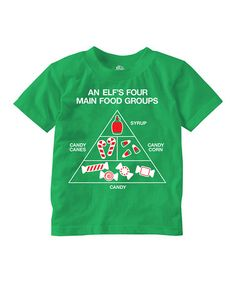 This Green 'An Elf's Four Main Food Groups' Tee - Toddler is perfect! #zulilyfinds