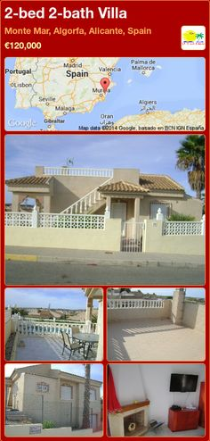 2-bed 2-bath Villa for Sale in Monte Mar, Algorfa, Alicante, Spain ►€120,000