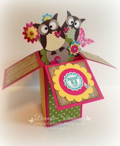 Stamp with Brandie: Owl Pop-Up Card