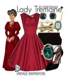 """""""Lady Tremaine +"""" by leslieakay ❤ liked on Polyvore featuring Kate Spade, Monsoon, Freida Rothman, ALDO, Steve Madden, vintage, disney, disneybound and plussize"""