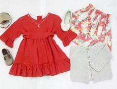 """Instagram @trioletspain: """"Da igual q no pare de llover!!! Hay que preparar él armario para la primavera!! Os proponemos falda de @lulunakids vestido de @mariadesaas bailarinas y pepitos de @pisamonas chaqueta de @babykids_atelier y collares de @hopsjoyas. #moda #fashion #niños #kids #teens #madres #mums #madeinspain #picoftheday #ss16 #kidsfashion #cute #bonito #cool #children #lagasca58 #triolet #trioletspain #newcollection"""". Joyas: Collar Little Star Cadena y Collar Cruz Cristal"""