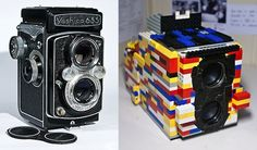Using LEGO Bricks, Photographer Builds Twin-Lens Reflex Camera  http://designtaxi.com/news/351706/Using-LEGO-Bricks-Photographer-Builds-Twin-Lens-Reflex-Camera/