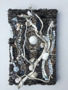 Karen Klassen (Edmonton, AB) is a visual mixed media artist creating wall art & pocket art mosaics using organic and exotic materials from around the world.