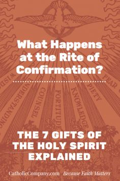 If you've received the Sacrament of ‪Confirmation‬, you have these seven supernatural gifts of the Holy Spirit. Remember whose you are!