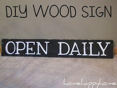 Wood sign tutorial