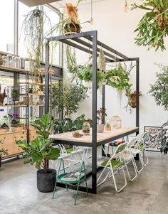 Indoor Gardens For Your Home Cafe Design, House Design, Warehouse Living, Outdoor Office, Industrial Restaurant, Backyard Patio Designs, Garden Shop, Green Rooms, Cafe Interior