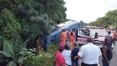 Al menos 30 heridos al accidentarse autobús en autopista Duarte