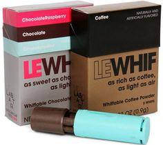 Já pensou ter que aspirar um chocolate ao invés de mastigar? Ele já existe, é o Le Whif e foi criado por cientistas com base na informação que 70% do sabor de qualquer alimento é captado pelo olfato.