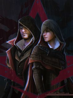 Assassins Creed Syndicate Art. The twins in their Master Assassins Outfits. Well done.