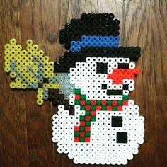 Snowman hama beads by  hochikiss