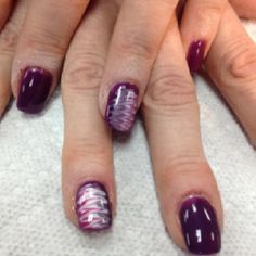 OPI Gel Color Louver Me Or Louver Me Not and Pink Flamenco, Alpine Snow and Princess Rule nail art.